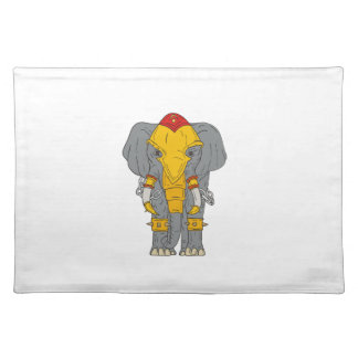 War Elephant Drawing Placemat