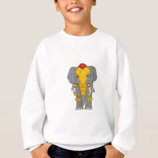 War Elephant Drawing Sweatshirt