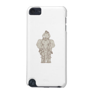 War Elephant Mahout Rider Drawing iPod Touch 5G Case