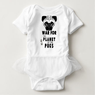 war for planet of pugs cool dog baby bodysuit