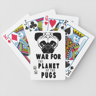 war for planet of pugs cool dog bicycle playing cards