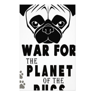 war for planet of pugs cool dog customized stationery