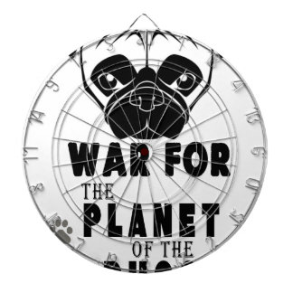 war for planet of pugs cool dog dartboard