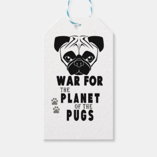 war for planet of pugs cool dog gift tags