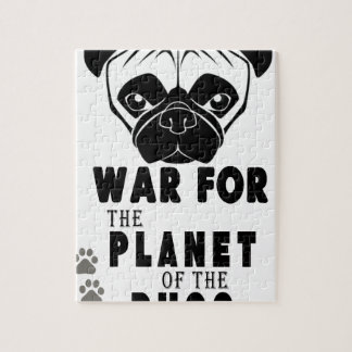 war for planet of pugs cool dog jigsaw puzzle