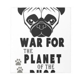 war for planet of pugs cool dog notepad