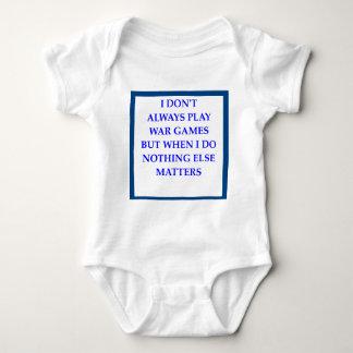 war games baby bodysuit
