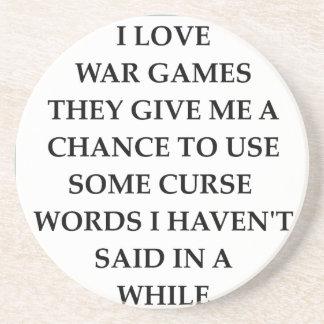 war games drink coasters
