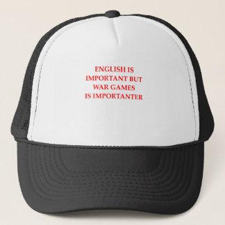 war games trucker hat