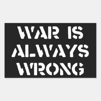 War Is Always Wrong Sticker