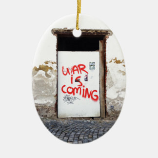 War Is Coming Ceramic Oval Ornament