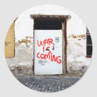 War Is Coming Classic Round Sticker
