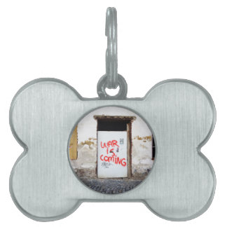 War Is Coming Pet ID Tag