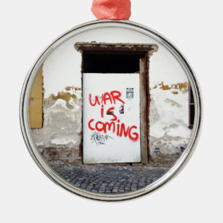 War Is Coming Silver-Colored Round Ornament