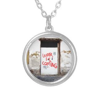 War Is Coming Silver Plated Necklace