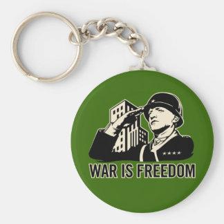 War is Freedom Basic Round Button Keychain