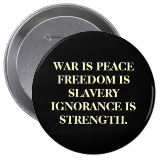 War Is Peace 4 Inch Round Button
