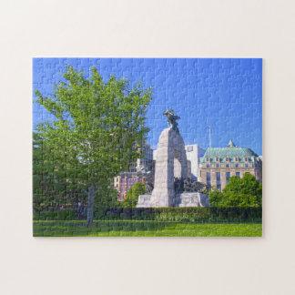War Monument Ottawa Canada. Jigsaw Puzzle