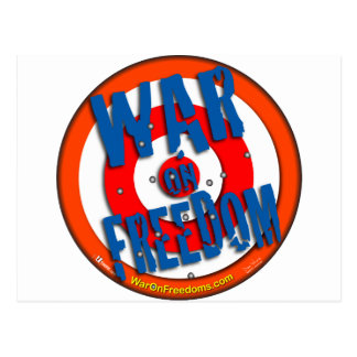 War on Freedom Postcard