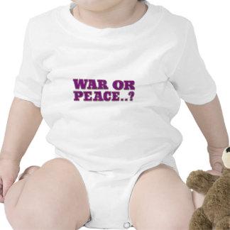 War Or Peace Baby Bodysuit