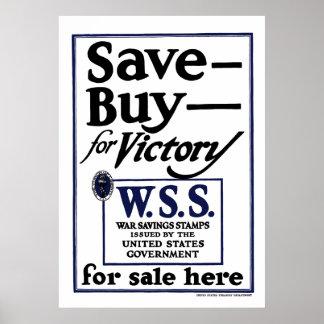 War Saving Stamps -- WW2 Poster