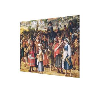 War Scene Gallery Wrap Canvas
