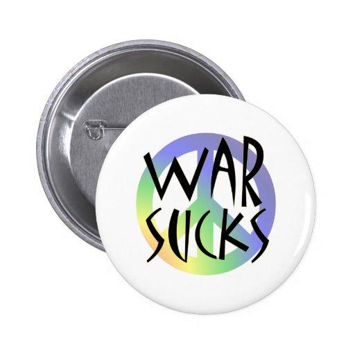 War Sucks! Pinback Button