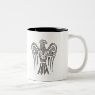 War Tarnished Snowhawk w/ runes Two-Tone Coffee Mug