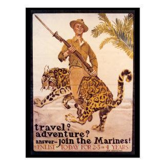 War Time Postcards, World War I Marines Postcard