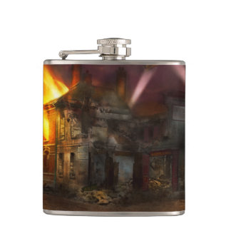 War - WWI - Not fit for man or beast 1910 Hip Flask
