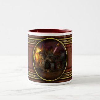 War - WWI - Not fit for man or beast 1910 Two-Tone Coffee Mug
