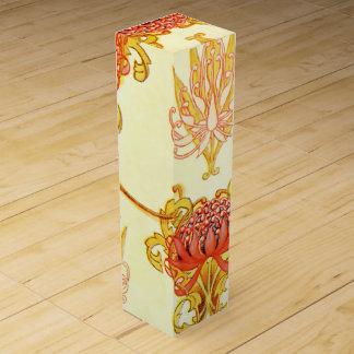 Waratah Wall Paper Pattern Wine Box