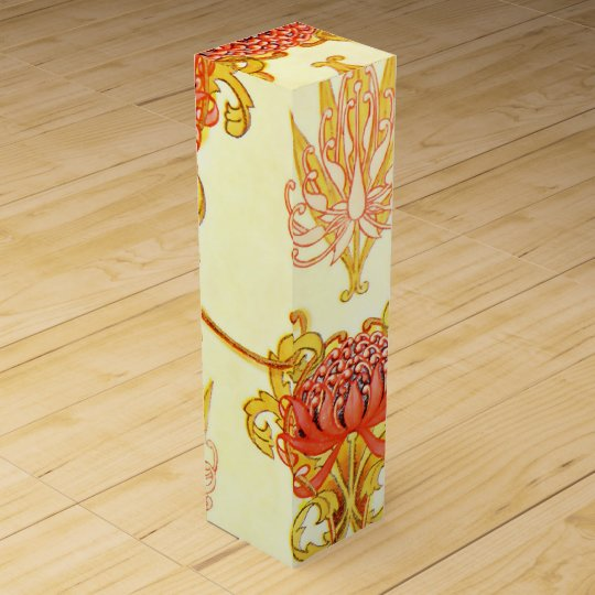 Waratah Wall Paper Pattern Wine Gift Boxes