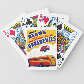 Ward Beam's Auto Daredevils Bicycle Playing Cards