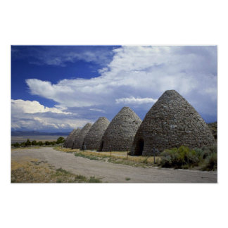 Ward charcoal ovens, Nevada Poster