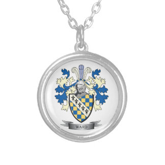 Ward Coat of Arms Silver Plated Necklace