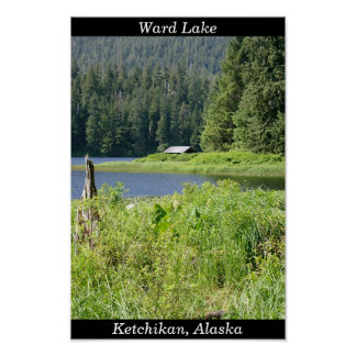 Ward Lake in Ketchikan, Alaska Poster