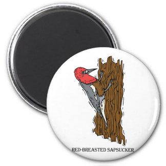 Wardell Woodpecker 2 Inch Round Magnet