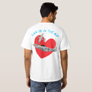 "Warkites ""Luv is in the Air"" P-51 Mustang T-Shirt"