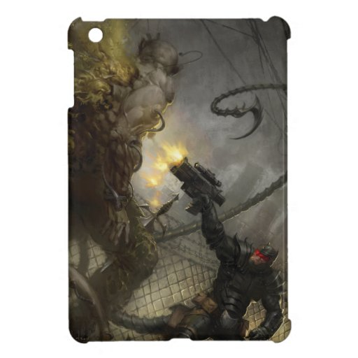 WARLASH VS. ZOMBIE MUTANT by Ben Olson iPad Mini Cases