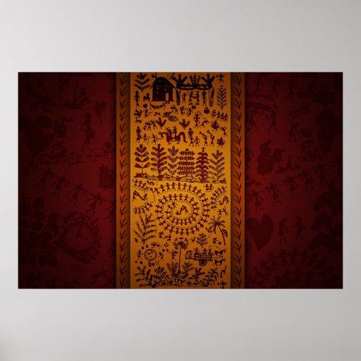 Warli Art Print