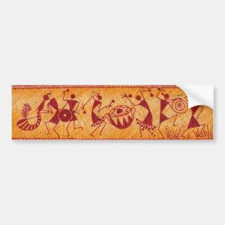 Warli Dancing Bumper Sticker