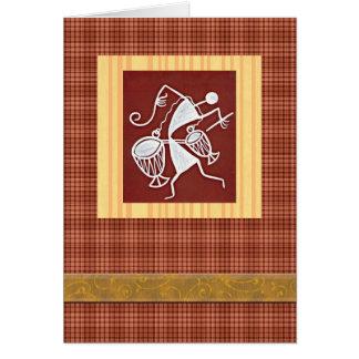 Warli folk art celebration card