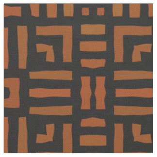 Warm African Tribal Design Fabric