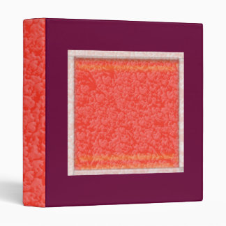 Warm AMBER Brilliance - Add your text in White 3 Ring Binder