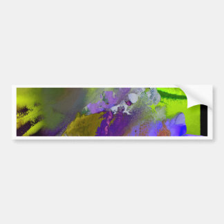 warm and cold colors splash bumper sticker