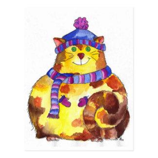 Warm and Cuddly Kitty Cat Kitten Postcard