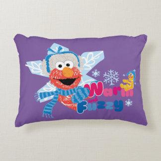 Warm and Fuzzy Elmo Accent Pillow