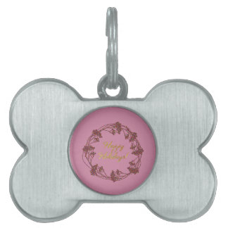 Warm and Lovely Christmassy Pet ID Tag