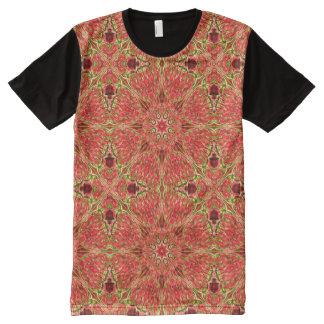 Warm Apricot Kaleidoscope ~ Beautiful Reflections All-Over-Print T-Shirt